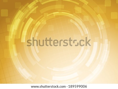 Modern abstract orange bright gear wheel. Vector illustration - stock vector
