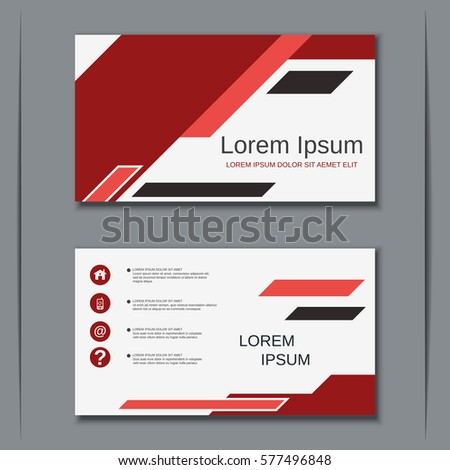 Modern abstract style visiting card vector stock vector 577496848 modern abstract style visiting card vector design template reheart Choice Image