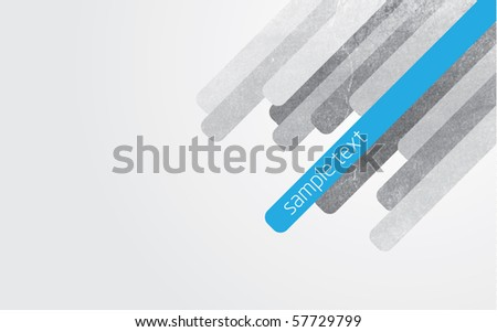 Modern abstract vector illustration with blue and grey lines with grunge effect and gradient background - stock vector