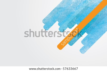 Modern abstract vector illustration with color lines with grunge effect and gradient background