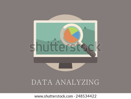 Modern and classic design data analytics concept flat icon - stock vector