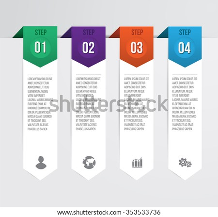 Modern and Simple Design number banners template / graphic or website layout. Vector Illustration.