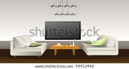 Modern apartment - stock vector