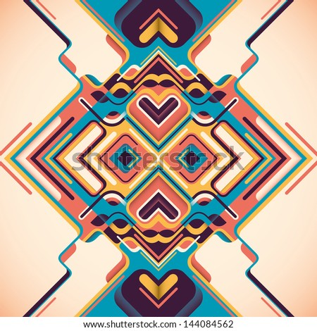 Modern arabesque. Vector illustration. - stock vector
