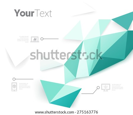 Modern Architectural Style Brochure Graphics Elements - stock vector