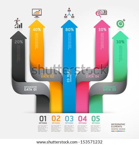 Modern arrow business diagram origami style options banner. Vector illustration. can be used for workflow layout, number options, step up options, web design, infographics. - stock vector