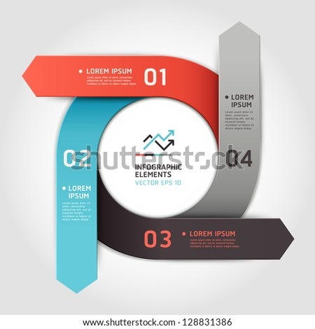Modern arrow circle step up options banner. Vector illustration. can be used for workflow layout, diagram, number options, web design, infographics. - stock vector