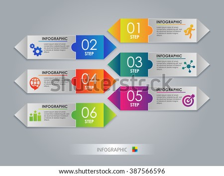 Modern arrow design template, Colorful Step. Abstract 3D digital Infographic. Vector illustration can be used for workflow layout, diagram, number options, web design.