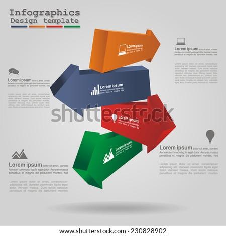 Modern arrow infographics element layout. Vector illustration. - stock vector