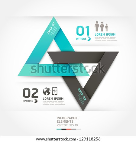 Modern arrow origami style options banner. Vector illustration. can be used for workflow layout, diagram, number options, step up options, web design, infographics. - stock vector