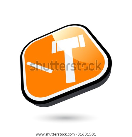 modern auction symbol - stock vector