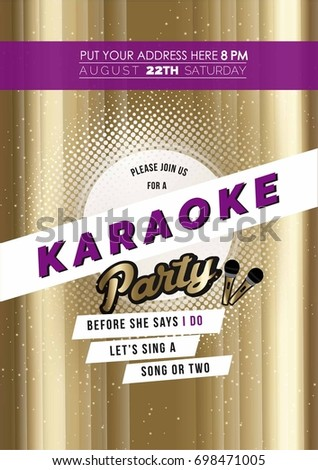 Modern bachelorette karaoke party invitation card stock vector hd modern bachelorette karaoke party invitation card stock vector hd royalty free 698471005 shutterstock stopboris Image collections