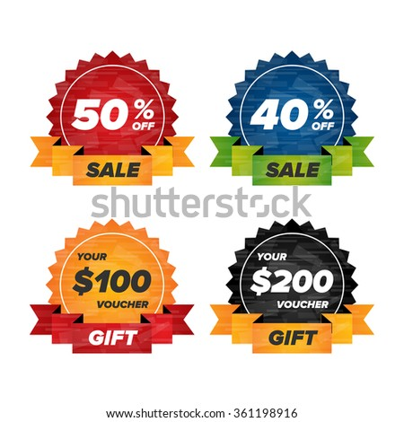 Modern badge icons for sales banners and flayers - stock vector