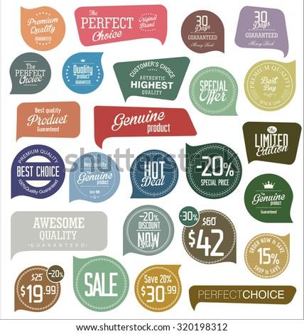 Modern badges - stock vector