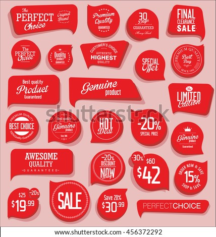 Modern badges and labels collection - stock vector