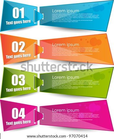 modern banner design - stock vector