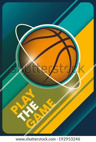 Modern basketball poster. Vector illustration. - stock vector