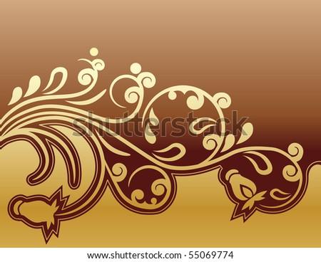 Modern beautiful floral design element - stock vector