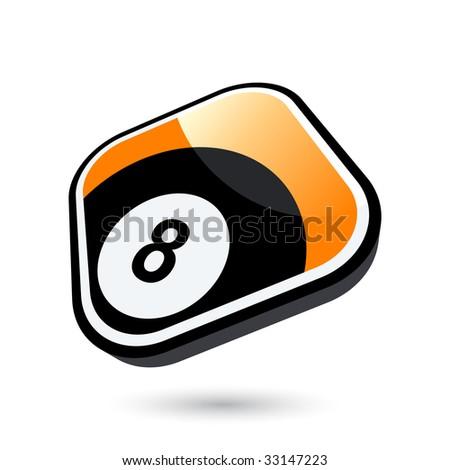 modern billiard sign - stock vector