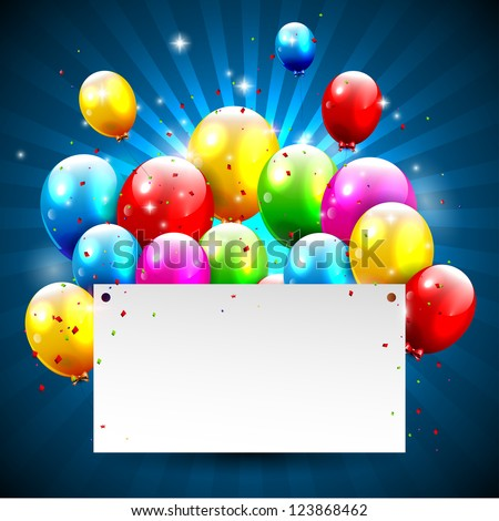 Modern birthday background with place for text - stock vector