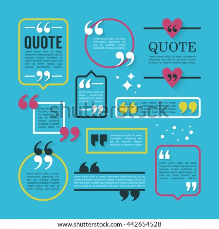 modern block quote pull quote line stock vector royalty free