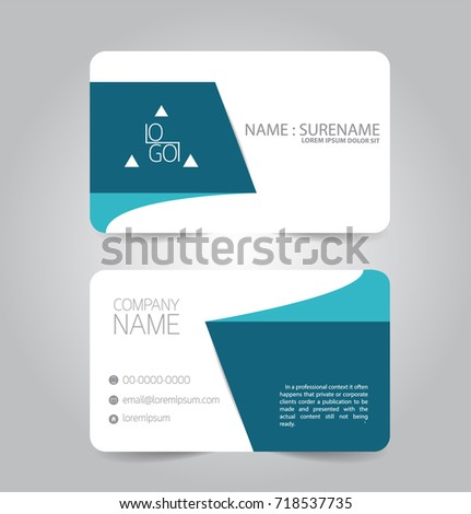 Modern blue business name card template stock vector 718537735 modern blue business name card template design fbccfo Choice Image