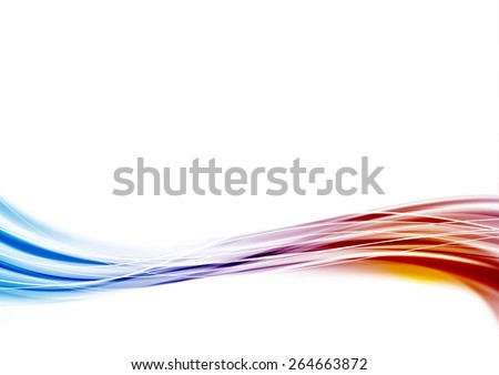 Modern blue to red swoosh wave border abstract background wave. Vector illustration - stock vector