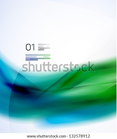 Modern blurred colors design template - stock vector
