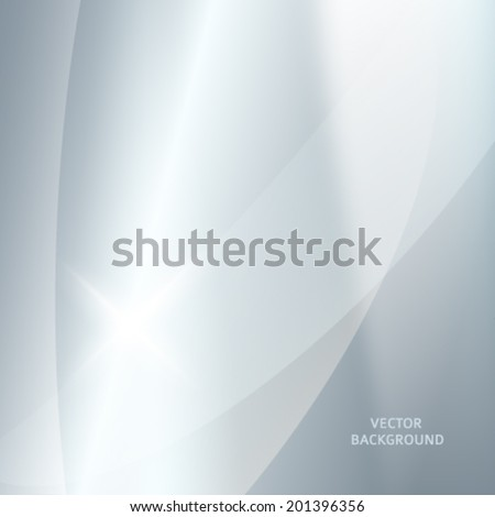 Modern blurred grey silver background with bright glowing star. Gorgeous graphic image template. Abstract vector Illustration eps 10 for your business brochure  - stock vector