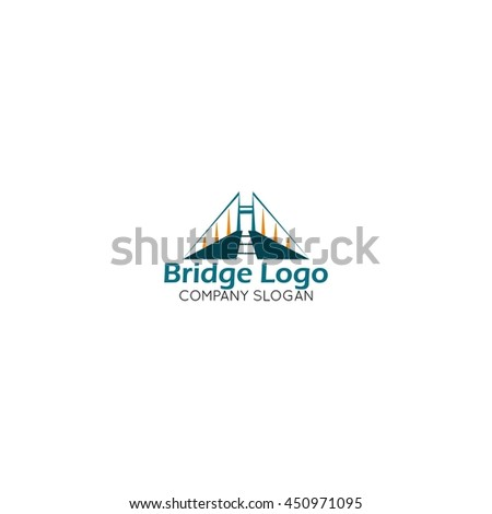 Modern Bridge Connection Logo Template Stock Vector HD Royalty Free - Free modern logo templates