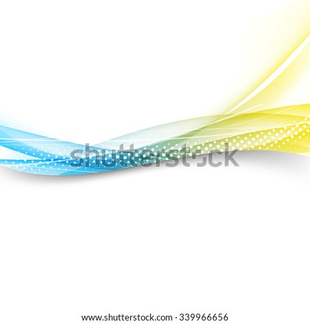 Modern bright swoosh line border layout - futuristic abstract template. Vector illustration - stock vector