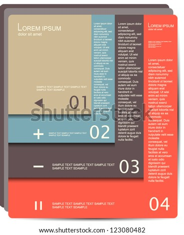 Modern brochure Design template with soft colors - stock vector