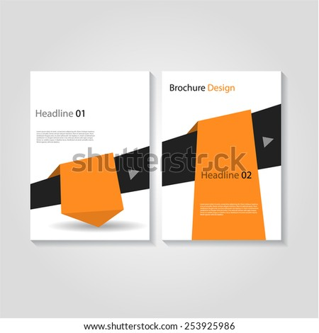 Modern brochure / flyer design with abstract arrow, eps10 Vector. - stock vector
