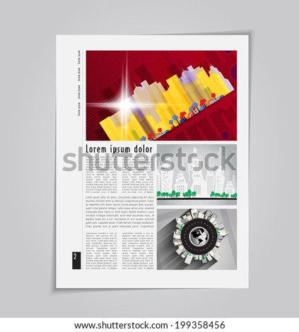 Modern Brochure Template Vector - stock vector