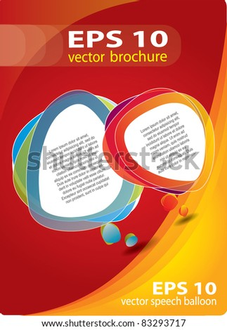 Modern brochure vector cover / background composition - stock vector