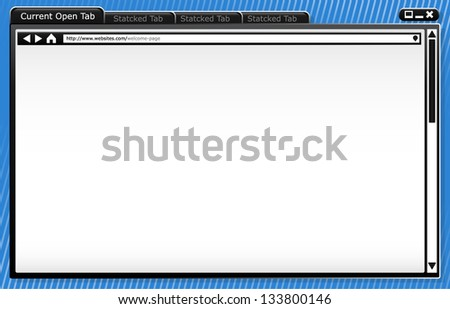 Modern Browser Wire-frame - Template - Background - Browser Window Vector Image - stock vector