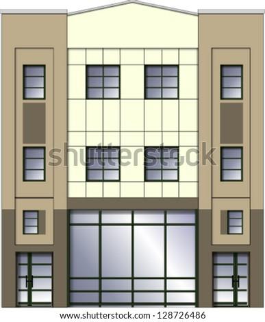 Modern building facade - stock vector