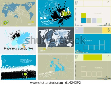 Modern business background - vector elements