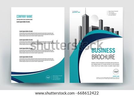 Modern Business Brochure Layout Flyers Design Stock Vector Hd