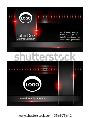 Modern Business Card design  - stock vector
