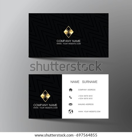 Modern business card design inspiration abstract stock vector modern business card design with inspiration from the abstract reheart Images