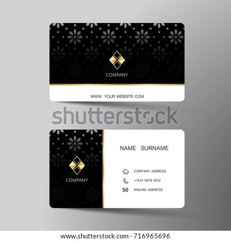 Modern business card template design inspiration stock vector modern business card template design with inspiration from the abstractntact card for company reheart Gallery