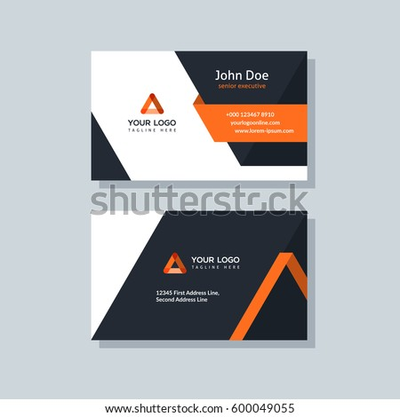 Modern business card template orange colors stock vector 600049055 modern business card template orange colors flat design vector abstract creative cheaphphosting Images