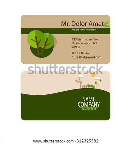 Modern business card template nature background stock vector modern business card template with nature background vector illustration reheart Gallery