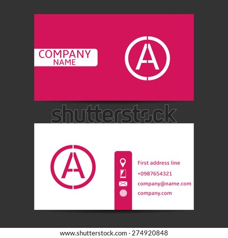 Modern business card sample text company stock vector 274920848 modern business card with sample text and company logo vector illustration reheart Choice Image