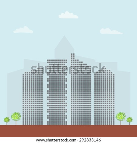 Modern Business City Concept - stock vector