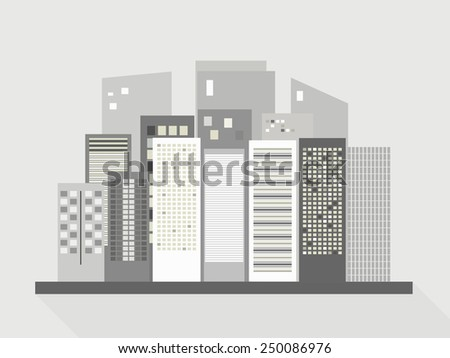 Modern Business City Concept, Long Shade