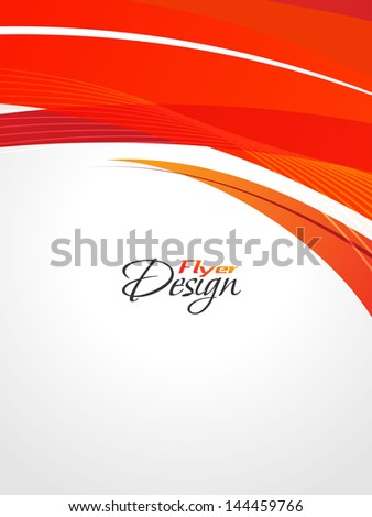 Modern Business Flyer Design, Minimal design Eps10 colorfull waves with grid. - stock vector