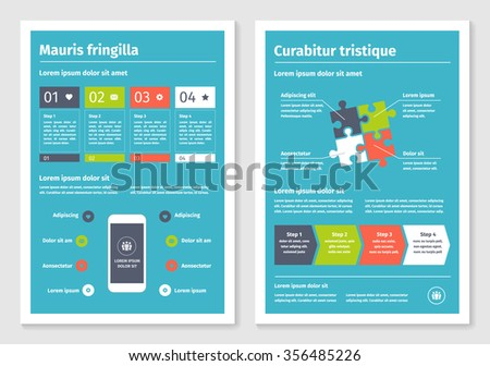 Business Modern A4 Brochures Template Infographic Stock Vector ...