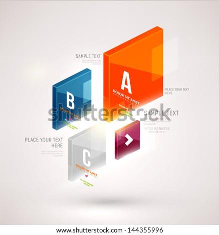 Modern business infographic design - stock vector